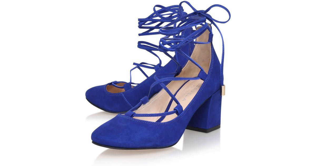 Carvela Kurt Geiger Aid Lace Up Block Heeled Court Shoes