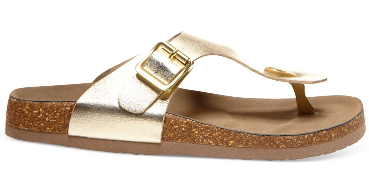 Girl Metallic Boise Madden Footbed Thong Sandals 9WED2HIYbe