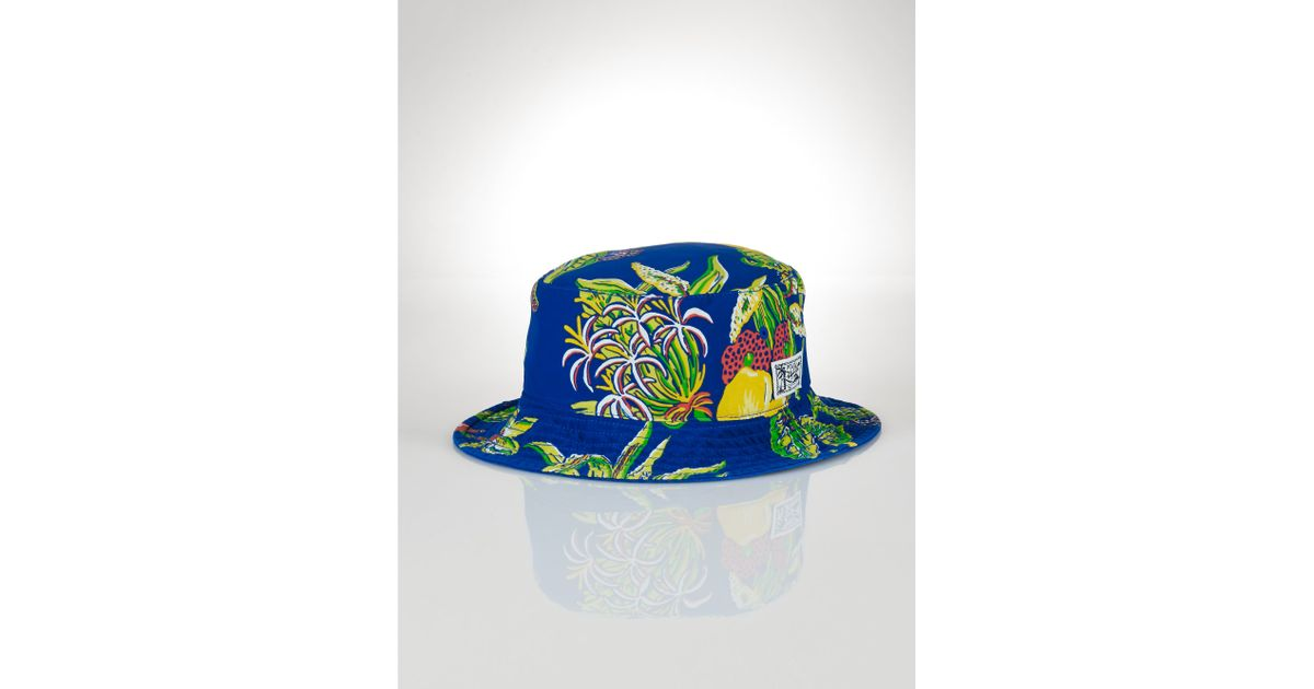 Lyst - Polo Ralph Lauren Reversible Floral Bucket Hat in Blue 5fa61a50b5a