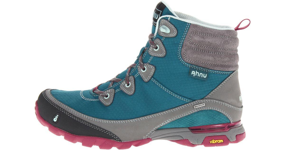 0175a90c823 Ahnu Blue Sugarpine Waterproof Cold-weather Hiking Boots