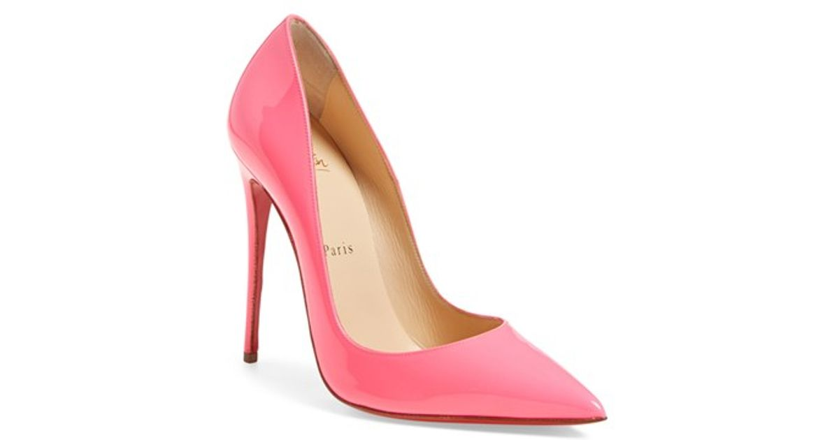 huge discount 60da7 39263 Christian Louboutin Pink So Kate Patent Leather Pumps