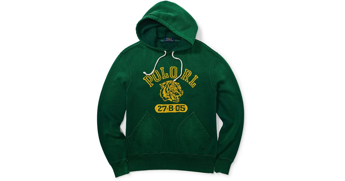 Lauren Men Ralph Polo Fleece Hoodie Graphic Green For hsrdCtQBxo