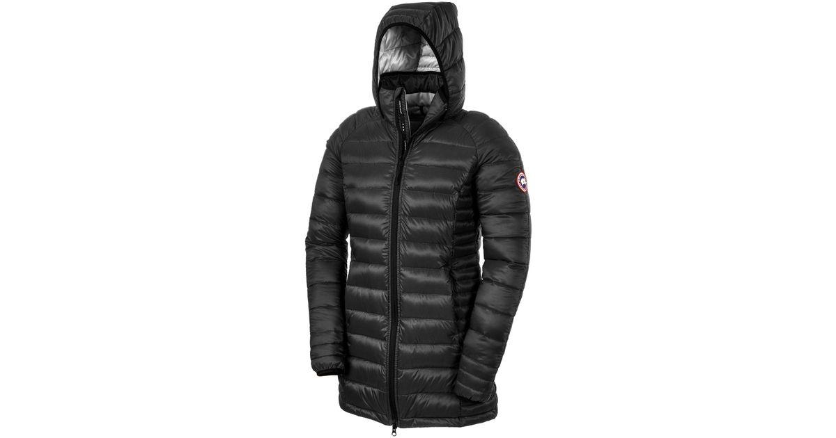 Canada Goose womens sale fake - Canada goose Brookvale Hooded Coat in Black | Lyst