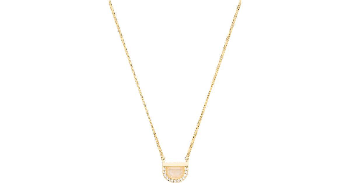 Melanie Auld The Island Necklace in Metallic Gold j8otZV