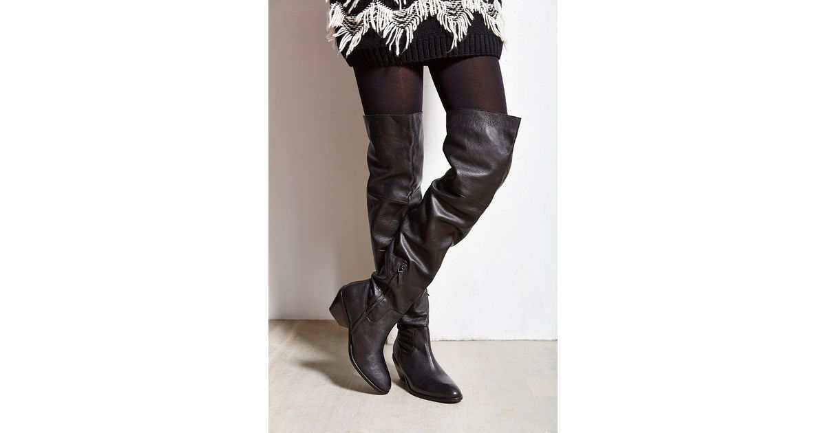 price reduced cheap for sale shop best sellers Ecote Leather Fiona Over-the-knee Boot in Black - Lyst