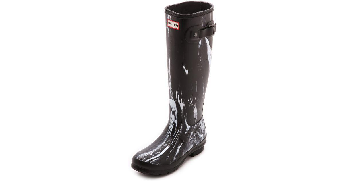 127f371de HUNTER Original Nightfall Tall Boots - Black/White in Black - Lyst