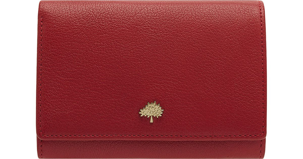 9b368767c4 ... sale mulberry tree glossy goat leather french purse poppy red in red  lyst d73c2 0d55f