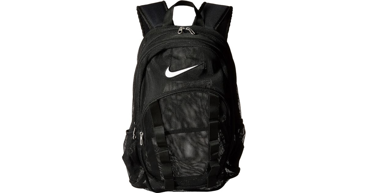 how to orders beautiful style authentic Nike Black Brasilia 7 Backpack Mesh Large