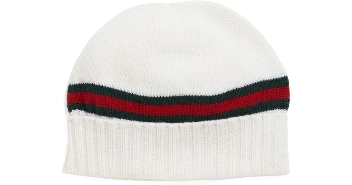 b021e70f Gucci Knit Hat in Black for Men - Lyst