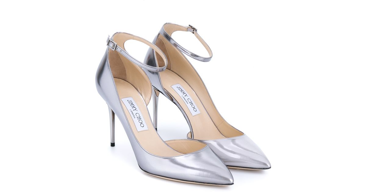 Jimmy Choo Leather Lucy Metallic Ankle