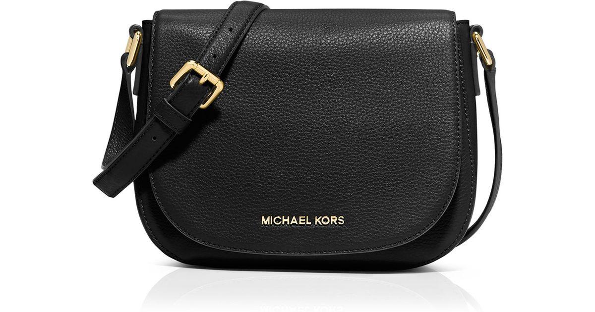 861ec8aad21fcd ... top quality lyst michael michael kors crossbody bedford medium flap  messenger in black 20204 928bc