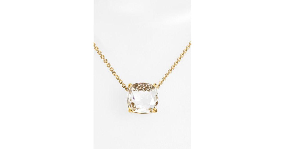 Kate Spade 'cause A Stir' Stone Pendant Necklace - Clear ...