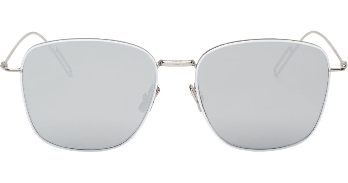 a7d4ca464a574 Lyst - Dior Homme Silver And White Composit 1.1 Sunglasses in Metallic for  Men