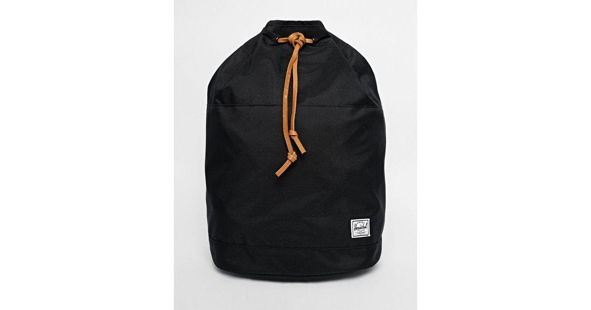 bd495aff1d1 Lyst - Herschel Supply Co. Hanson Drawstring Backpack In Black in Black