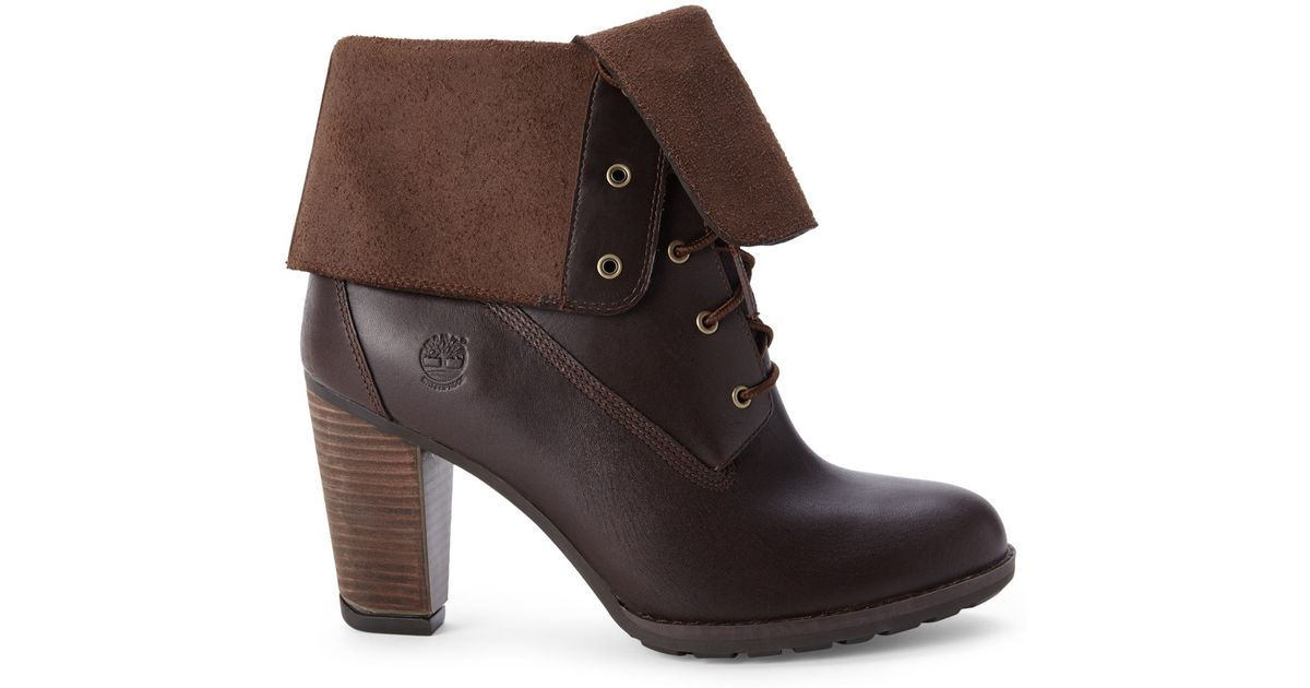 Timberland Brown Stratham Heights Fold Down Boots