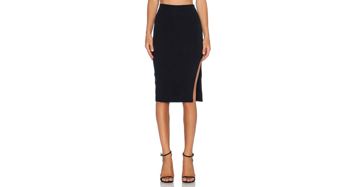 lna layer pencil skirt in black lyst