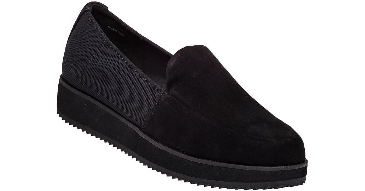 785ae6473c4 Lyst - Eileen Fisher Dell Black Suede Loafer in Black