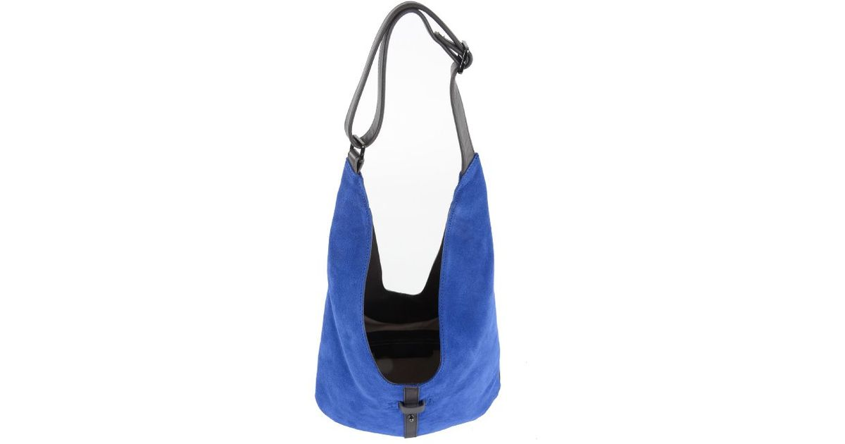 b76dee3d55b4 Lyst - Halston City Casual Hobo Bag in Blue