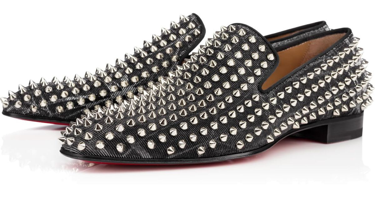 8dcd94c11175 Lyst - Christian Louboutin Dandelion Spikes Flat Tissu Etincelle in Black  for Men