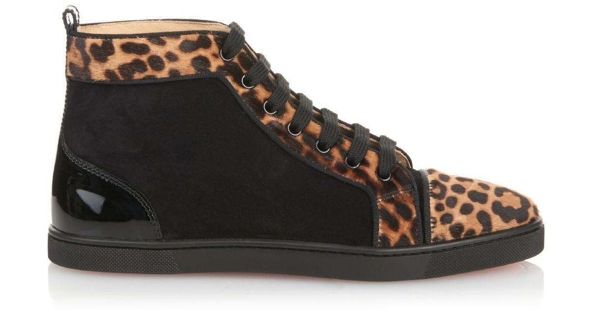 louboutin shoes mens - christian louboutin bip bip high top sneaker, mens white christian ...