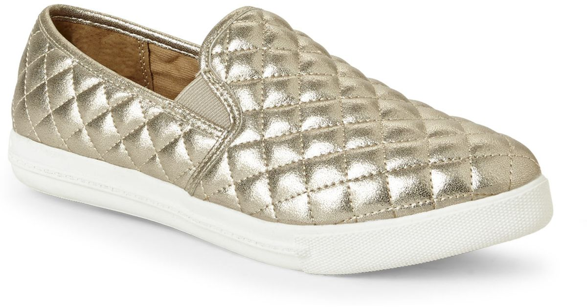 Steve Metallic Gold On Eurros Quilted Madden Sneakers Slip W2IeHDEb9Y