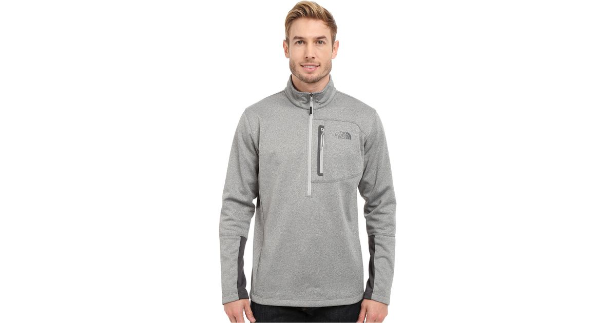 99caa917b The North Face Gray Canyonlands 1/2 Zip Pullover for men