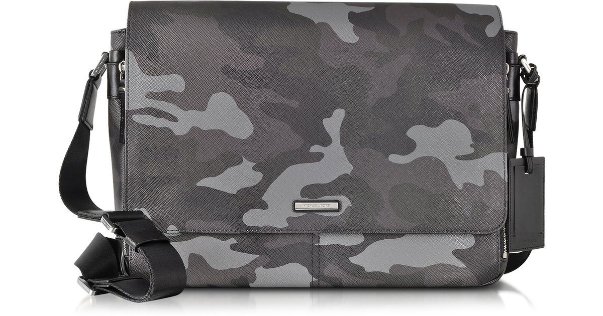 d2a29734e472 ... Michael kors Jet Set Men S Grey Camouflage Messenger Bag in Gray for Men  Lyst ...