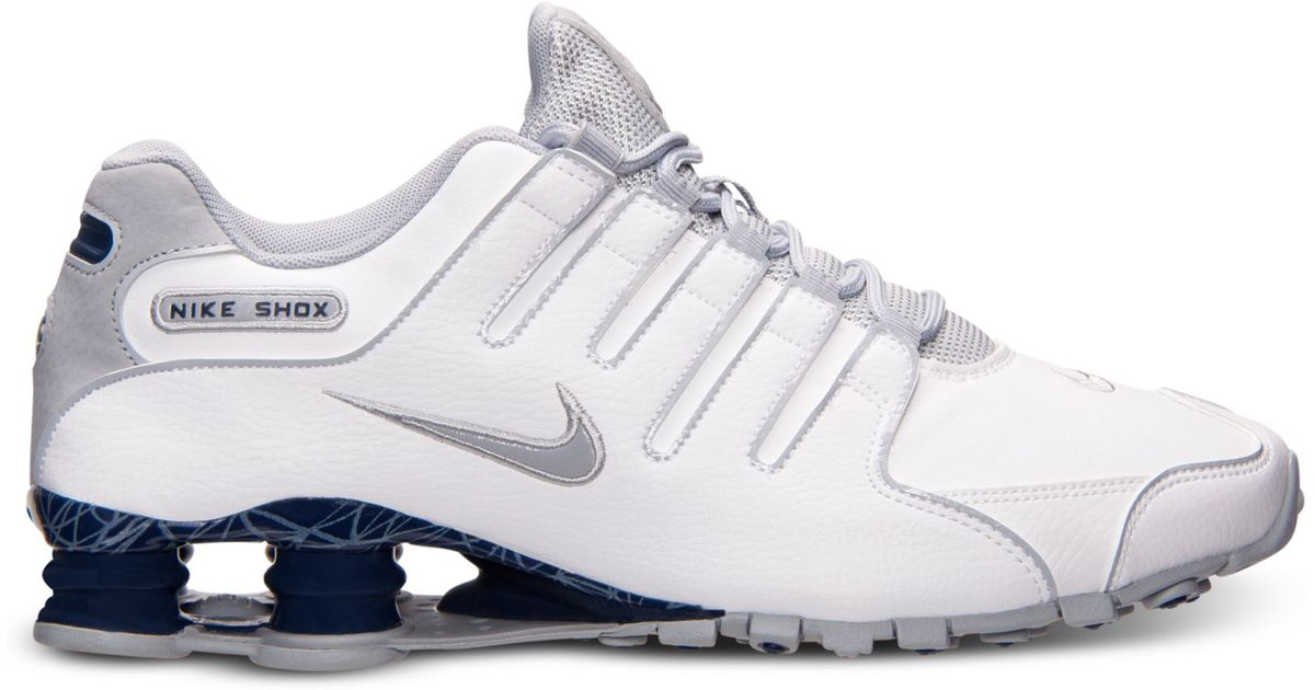 9e2745d66b1d Lyst - Nike Mens Shox Nz Eu Running Sneakers From Finish Line in White for  Men