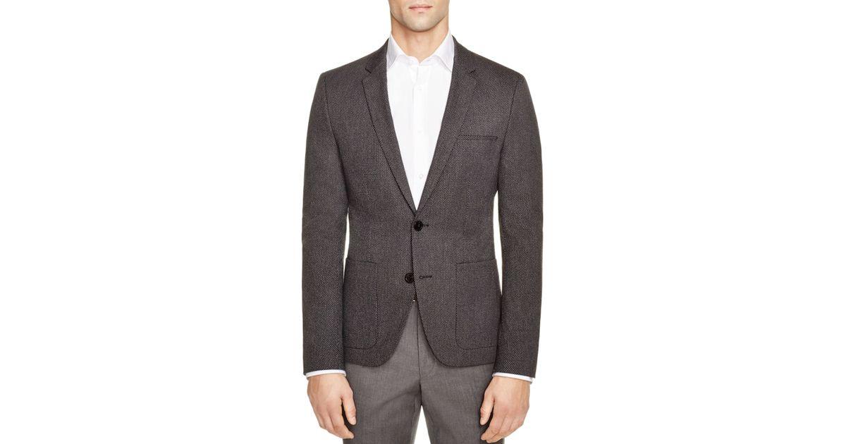 hugo boss charcoal hugo snakeskin aleson slim fit sport coat gray. Black Bedroom Furniture Sets. Home Design Ideas