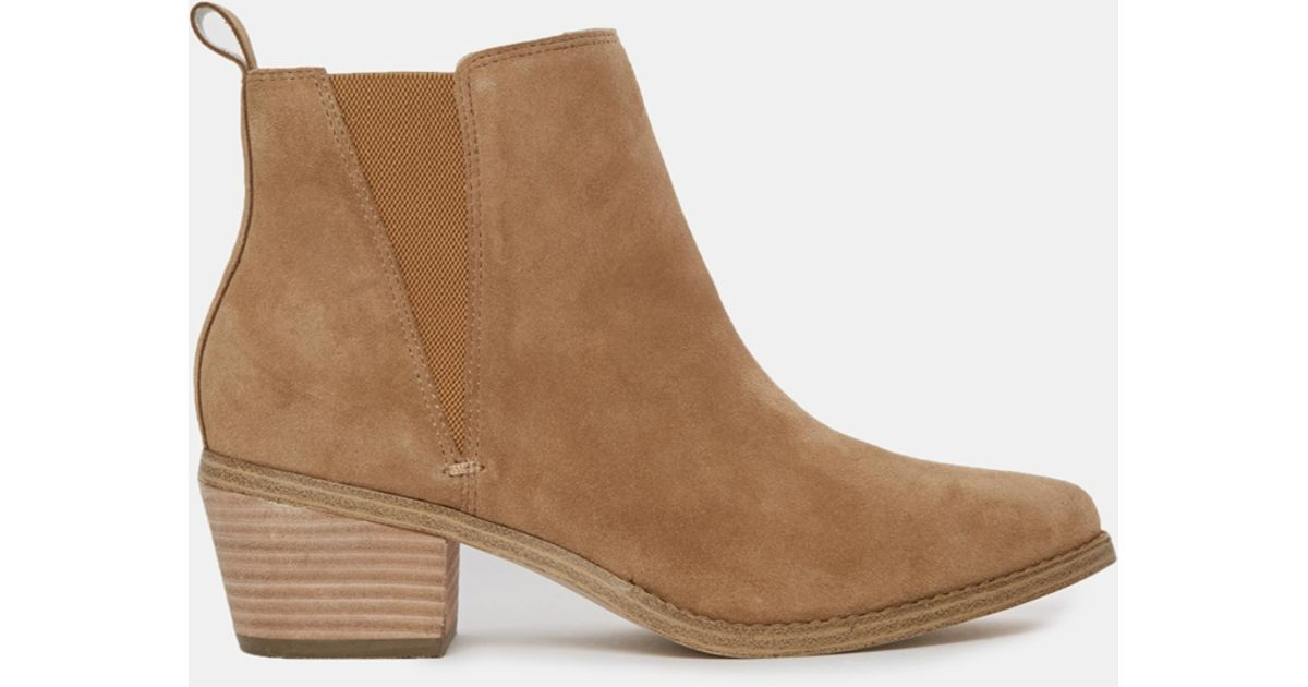 b10b198691d1 Lyst - ASOS Risked It Suede Chelsea Boot in Natural