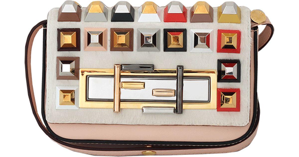 Fendi Pyramid Studded Baguette Mini - Lyst 650165a13b63f
