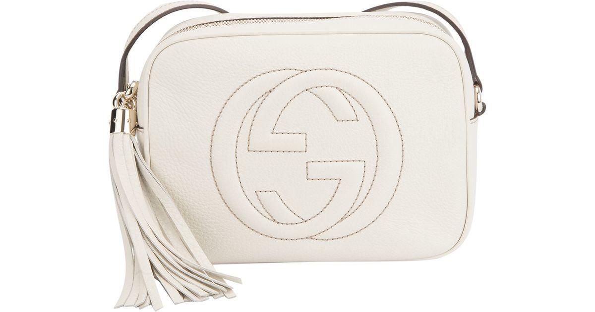 087956c6a463 Lyst - Gucci Disco Bag in White
