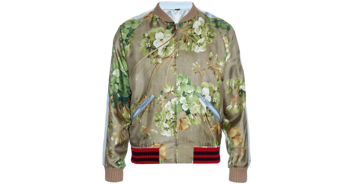 40b418a1e Gucci Multicolor Reversible Silk Bomber Jacket for men