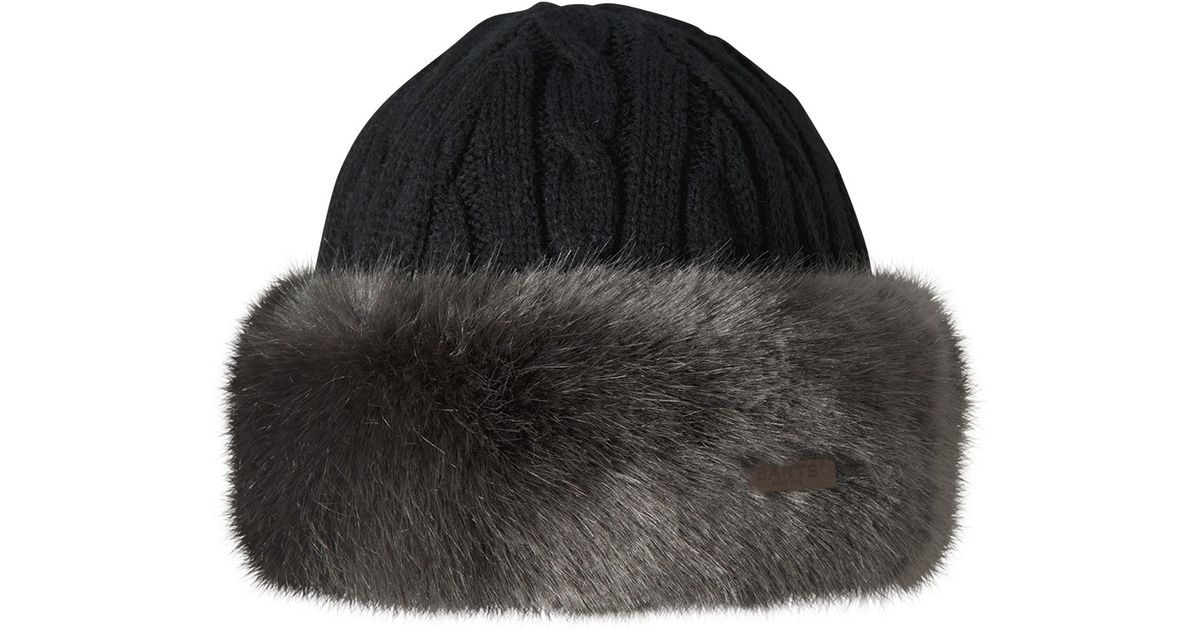 1be74e472e289 Barts Faux Fur Cable Bandhat in Gray - Lyst