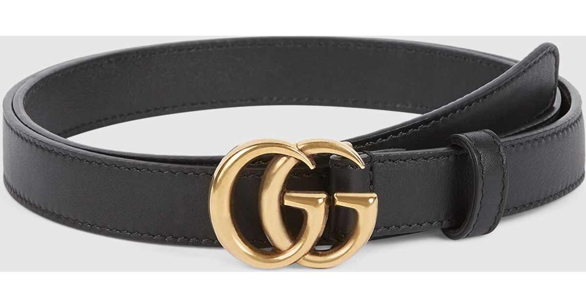 Lyst - Gucci Leather Belt With Double G Buckle in Metallic 2254170e182