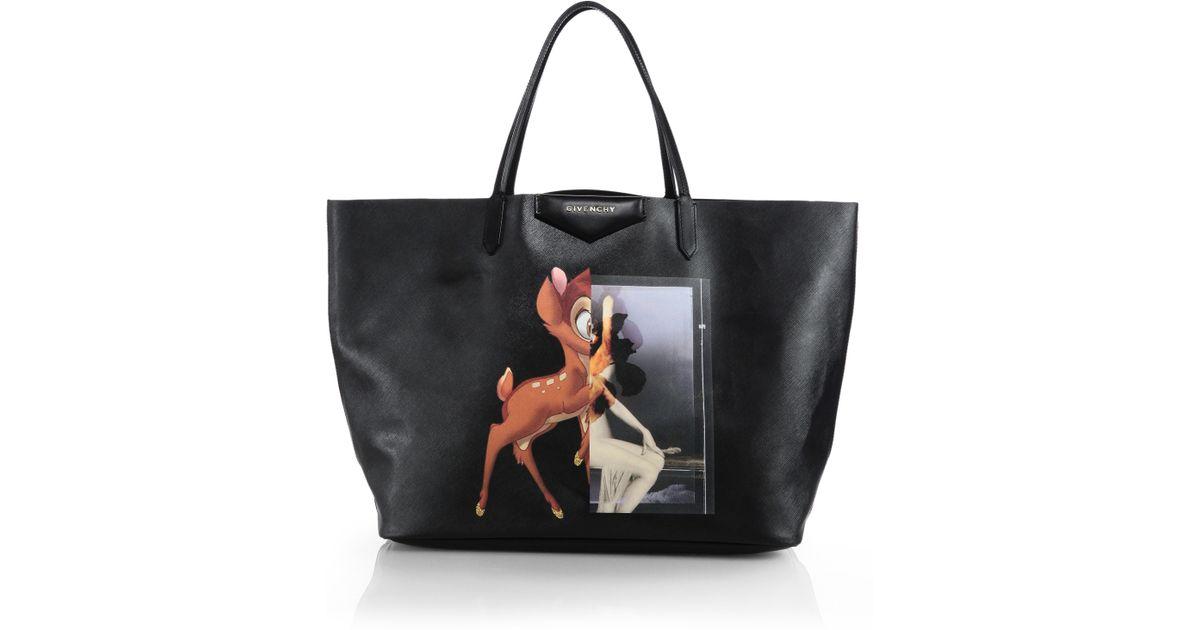 Givenchy Black Bambi Medium Leather Per Tote
