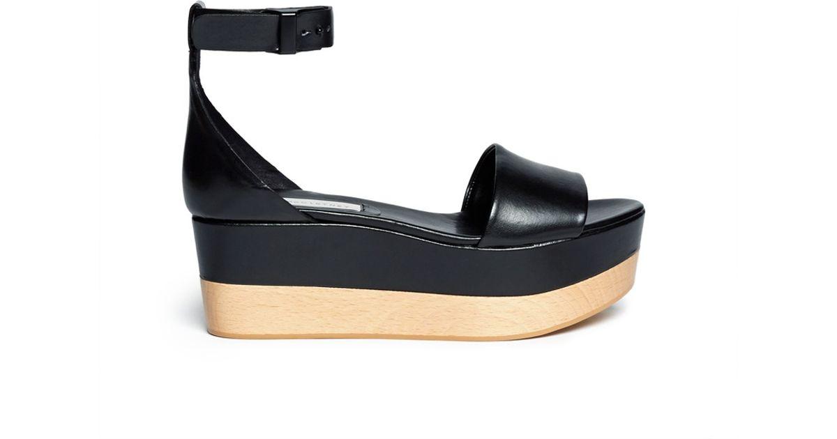 Stella McCartney Ankle Strap Flatform