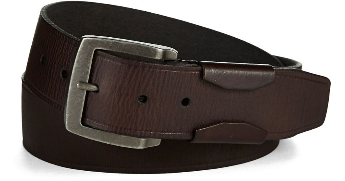 varvatos leather belt with harness buckle in black