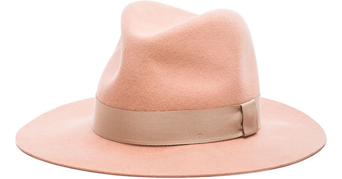 Lyst - Rag   Bone Floppy Brim Fedora Hat in Pink bb18c91e163