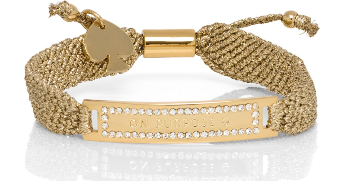 Lyst Kate Spade New York On Purpose Pave Friendship Bracelet In Metallic