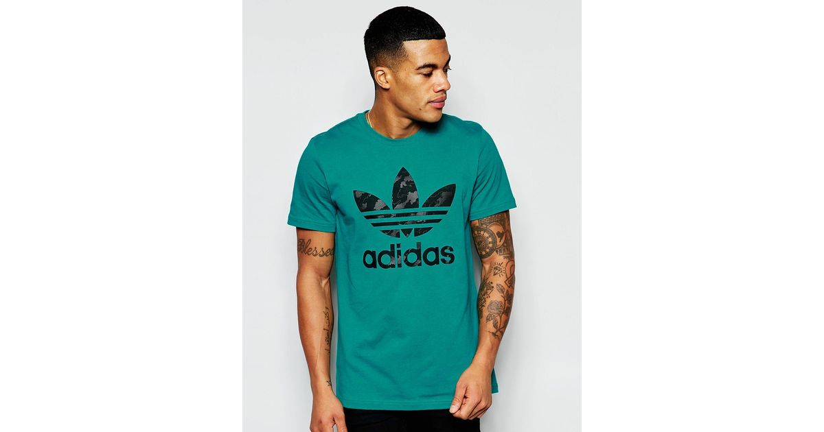 T With Trefoil Aj6910 In Originals Green Shirt Lyst Logo Adidas ZuXiPk