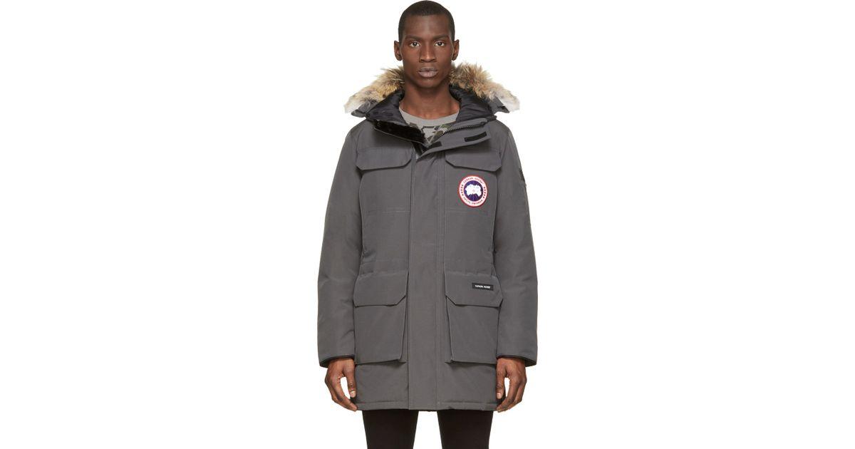 Canada Goose down outlet shop - Canada goose Grey Down & Fur Citadel Parka in Gray for Men (grey ...