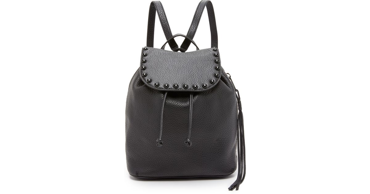 2a3b739291 Lyst - Rebecca Minkoff Little Leather Backpack in Black