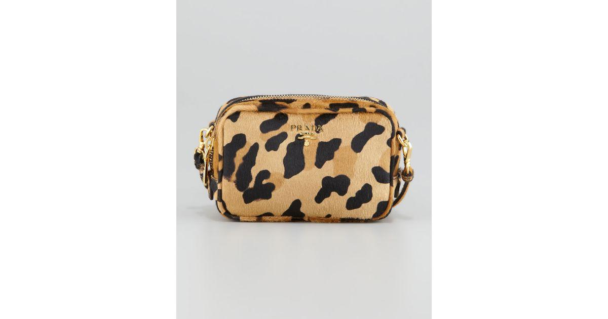 308bd5a43713 Lyst - Prada Leopard-Print Mini Crossbody Bag