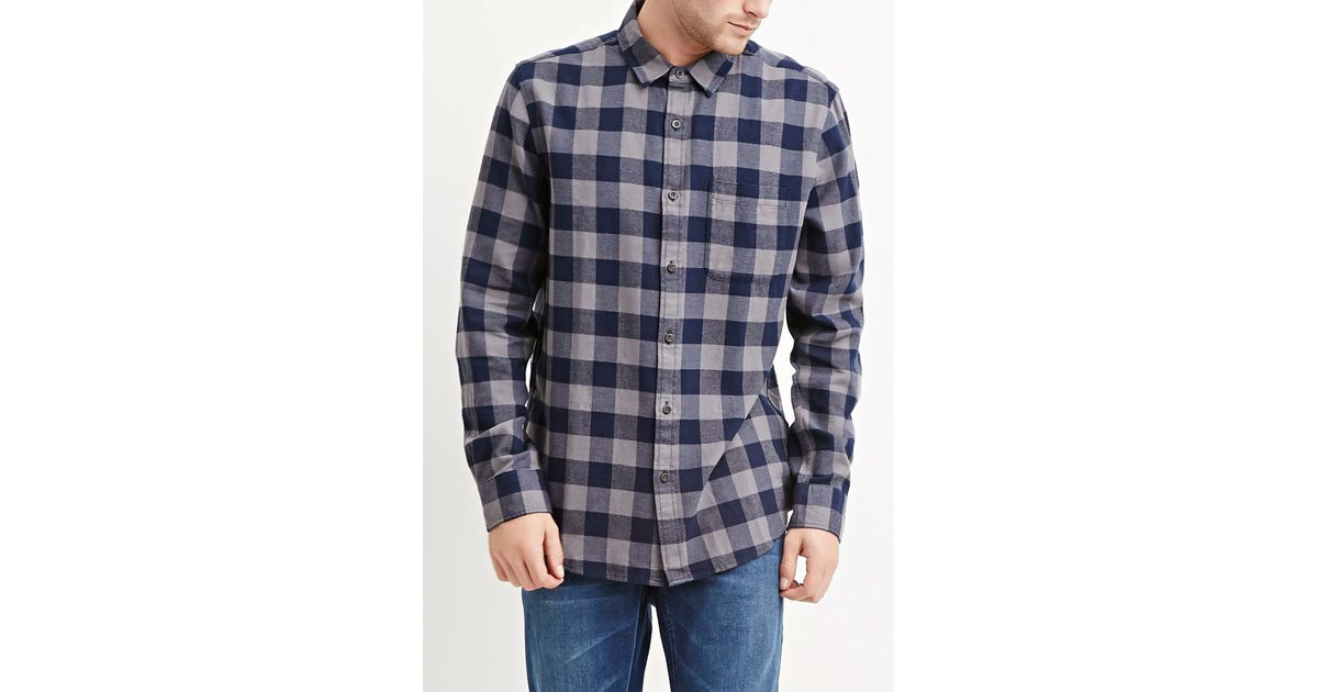 Forever 21 buffalo plaid cotton shirt you 39 ve been added to for Buffalo plaid men s shirt