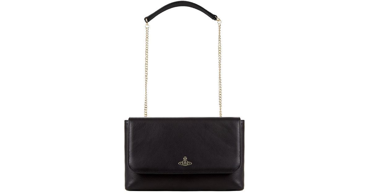 a490f52281f8 Vivienne Westwood Spencer Flap Chain Cross Body Bag in Black - Lyst