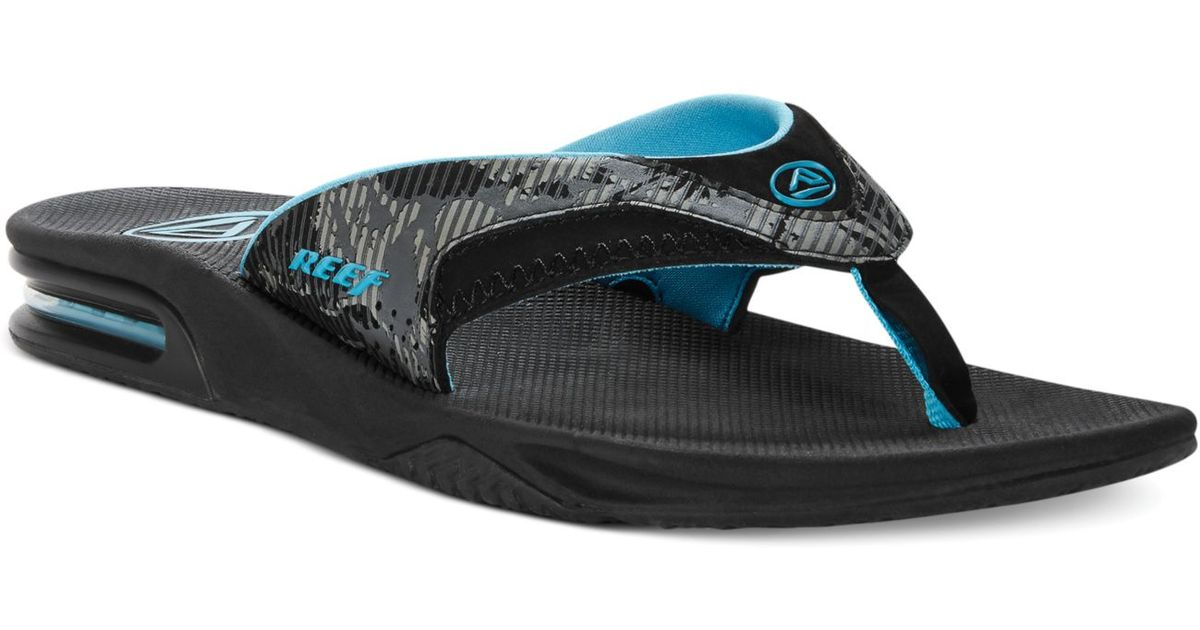 For Men Thong Sandals Black Reef Fanning Print Lyst In Camo dChrtsQ