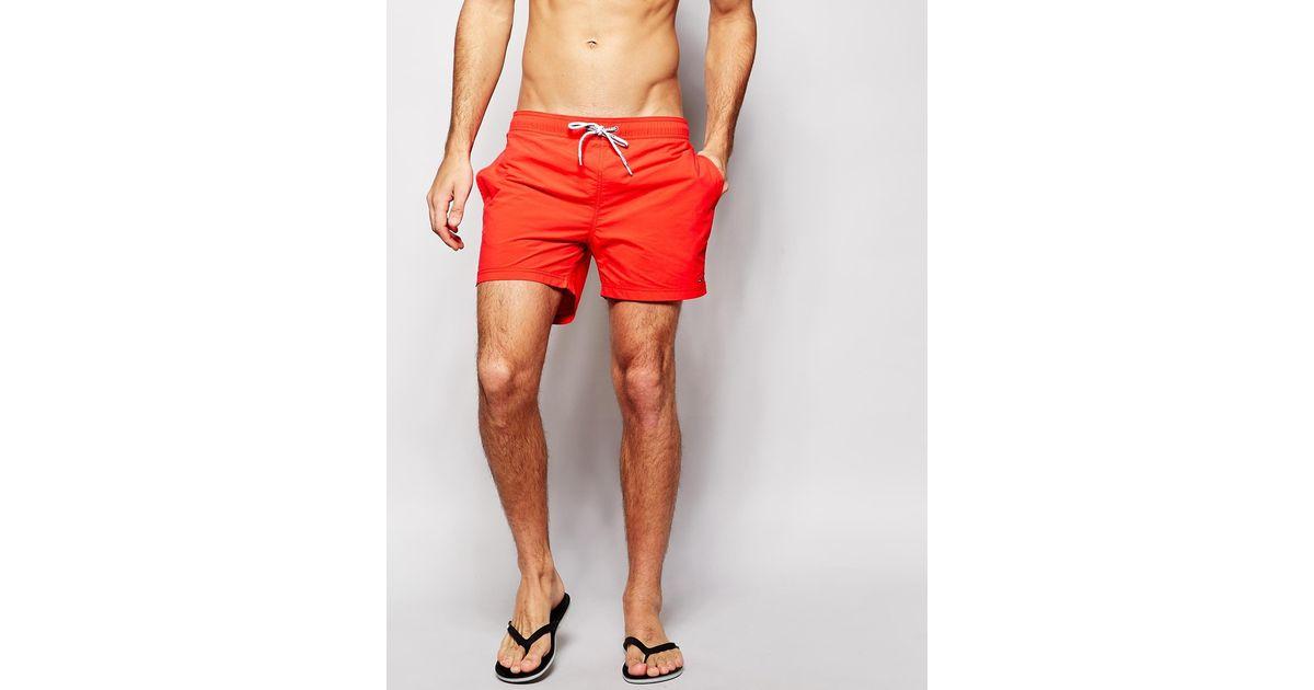 80ad3d4b86 Tommy Hilfiger Red Swim Shorts for men
