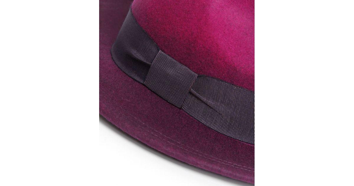 1b006275fcbbd5 Paul Smith Degrade Wool Fedora Hat in Purple - Lyst