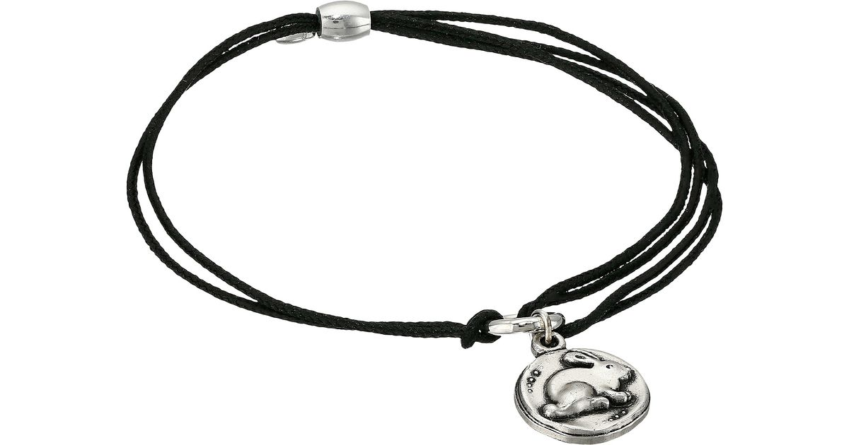 Alex and ani kindred cord bunny bracelet in metallic lyst